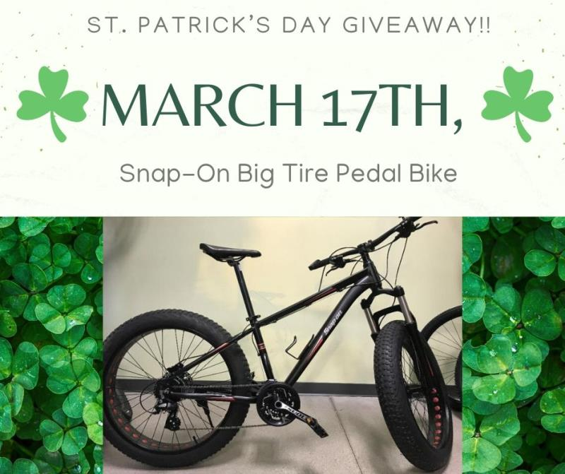 Snap On Bike Giveaway